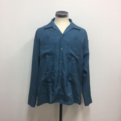 UNITUS(ユナイタス) SS18 Cuba Shirts Turquoise【UTSSS18-S02】(N)