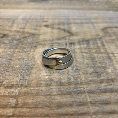 Hermès Vintage(エルメス ヴィンテージ) Sterling Silver & 18k Gold Ring 【FH047】(N)