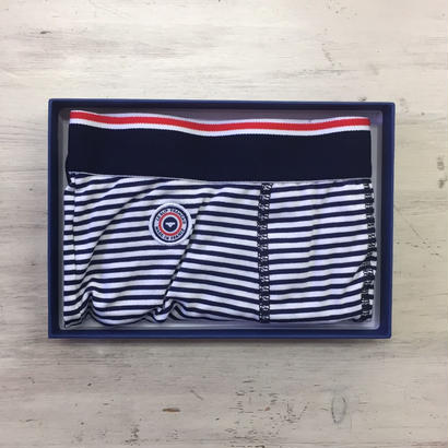LE SLIP FRANÇAIS(ルスリップフランセ) Permanent Lycra Boxer Briefs【Blue/White】 Blue/White