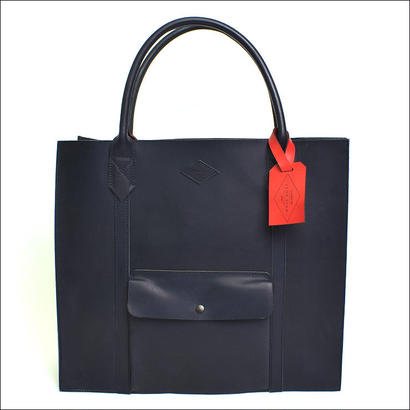 LEON FLAM(レオンフラム)LEATHER TOTE BAG  NAVY(N)