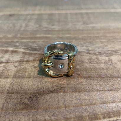 Hermès Vintage(エルメス ヴィンテージ) Sterling Silver & 18k Gold Ring【VH20】(N)