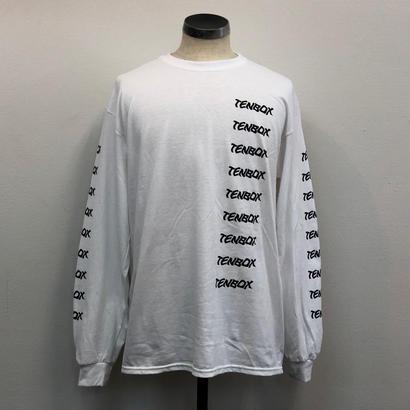 2018.9.25(火)PM12時より販売開始【TENBOX】FW18  T TENBOX LOGO L/S WHITE(N)