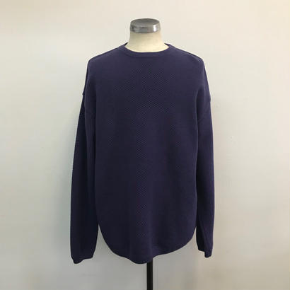 CREPUSCULE クレプスキュール  MOSS STITCH L/S 1703-002 PURPLE(N)