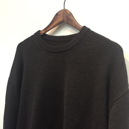 CREPUSCULE クレプスキュール  WHOLE GARMENT L/S KNIT   1703-005 BLACK(N)
