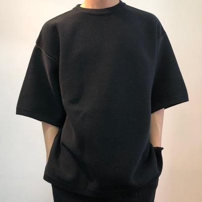 crepuscule クレプスキュール  Tuck Knit 1801-009 Black(N)