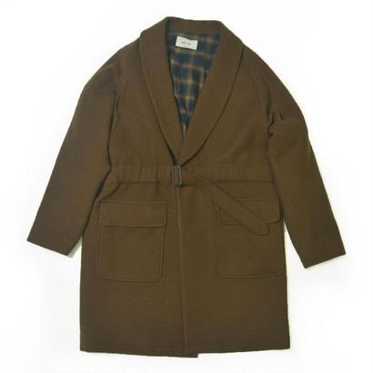 UNITUS(ユナイタス) FW17 Belted Shawl Coat Olive (Boucle Wool)【UTSFW17-J03】(N)