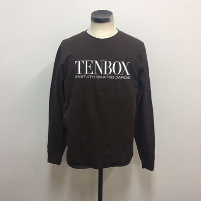 【PIGU HOUSE】【Kenzai.Depot】TENBOX×EAST4TH L/S TEE DARK CHOCOLATE