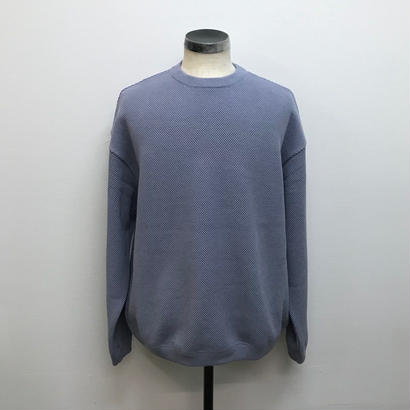 CREPUSCULE クレプスキュール  MOSS STITCH L/S SWEAT L.Blue(N)