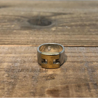 Hermès Vintage(エルメス ヴィンテージ) Sterling Silver & 18k Gold Ring 【FH016】(N)