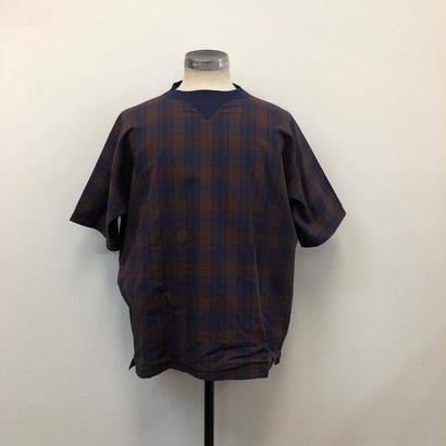 UNITUS(ユナイタス) SS19 Gazette Shirt  Brown Check【UTSSS19-CS02】(N)