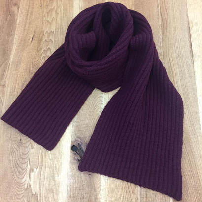 CREPUSCULE クレプスキュール  L/G STOLE BURGUNDY  1703-015 ストール(N)