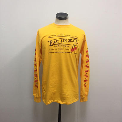 EAST4th Skate  Cherry  L/S Tee GOLD