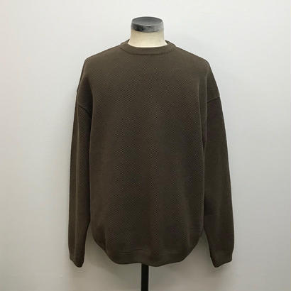 CREPUSCULE クレプスキュール  MOSS STITCH L/S SWEAT  Brown(N)