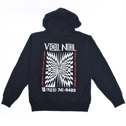 VIRGIL NORMAL バージルノーマル 【VVN053】MEMORIES OF ROCKETS HOODIE BLACK