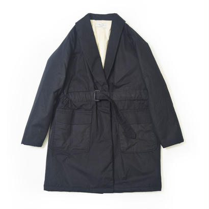 UNITUS(ユナイタス) FW17 Belted Shawl Coat Black (Wax Cotton)【UTSFW17-J02】(N)