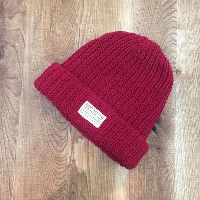 Seams Knit Beanies Red(N)