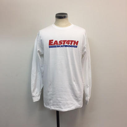 (C)EAST 4TH LOGO  L/S TEE(WHITE)