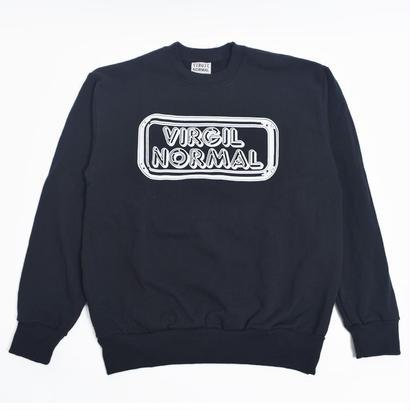 VIRGIL NORMAL 【VVN065】バージルノーマル  NEON CREW SWEAT BLACK