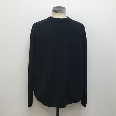 CREPUSCULE クレプスキュール  MOSS STITCH L/S SWEAT  Black(N)