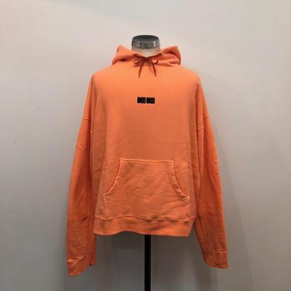 12.8(土)12:00より販売開始 SEE SEE LOGO HOODIE Orange x Black (N)