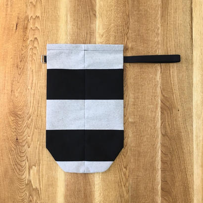 ITTI イッチ  ANNIE RICE BAG II sunbrella / black/white(N)