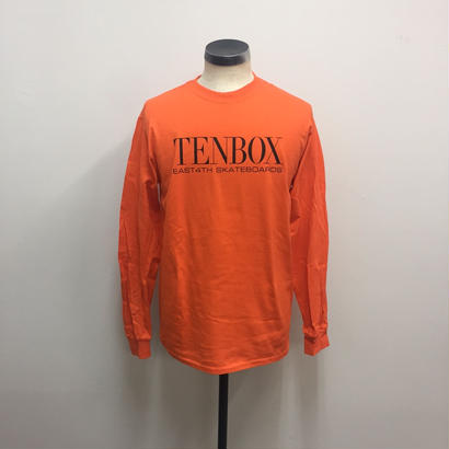 【PIGU HOUSE】【Kenzai.Depot】TENBOX×EAST4TH L/S TEE ORANGE