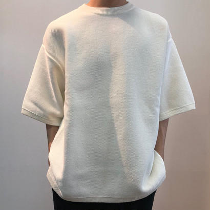 crepuscule クレプスキュール  Tuck Knit 1801-009 White(N)
