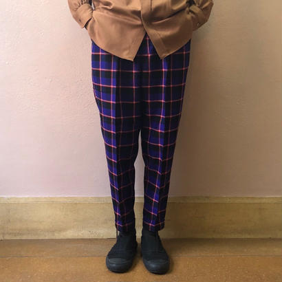 UNITUS(ユナイタス) FW18 2Tucks Pant Blue Check【UTSFW18-P01】(N)