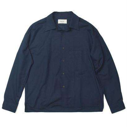 UNITUS(ユナイタス) FW17 Open Collar Shirts Navy【UTSFW17-S02】(N)