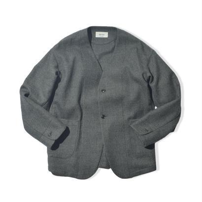 UNITUS(ユナイタス) FW17 No Collar Jacket Charcoal【UTSFW17-J09】(N)