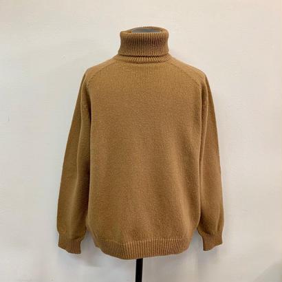 CREPUSCULE クレプスキュール Wholegarment Turtleneck Camel【1803-012】(N)
