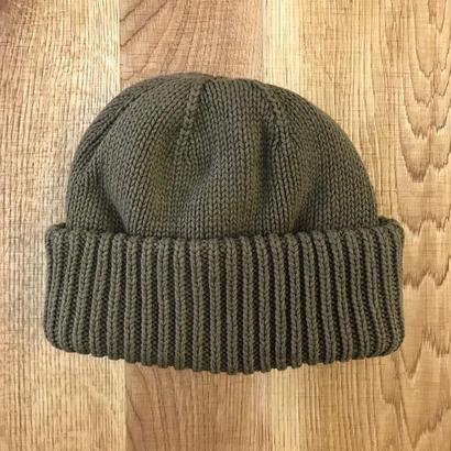 CREPUSCULE クレプスキュール knit cap 1 1803-013  Khaki(N)