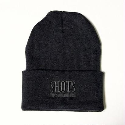 SHOTS T.S.N.M LONG BEANIE CAP (BLACK)