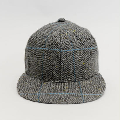 APOGEE Tweed Cap GRAY×BLUE