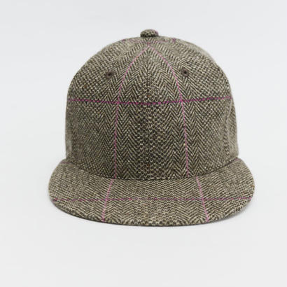 APOGEE Tweed Cap BROWN×PINK