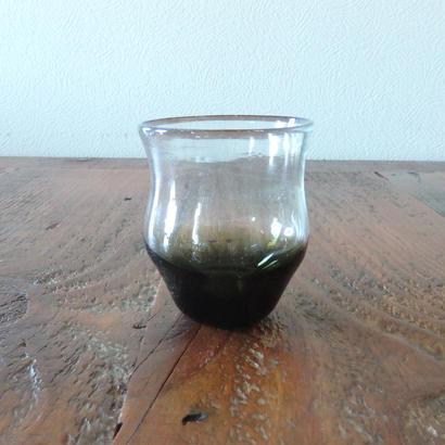 吹きガラス工房 彩砂 くびれグラス オリーブ