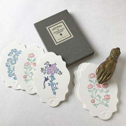 "Letterpress Card set ""花鳥風月""雲形"