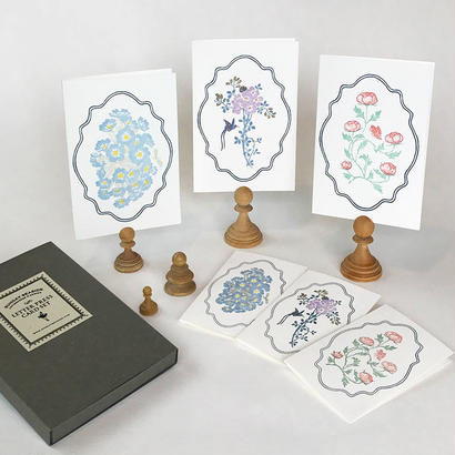 "Letterpress Card set ""花鳥風月"""