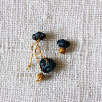 Cotton Stone Asymmetry Pierce (Dark Indigo)
