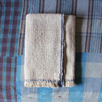 Gara-bou Blanket Stole 90×190cm (Ivory Chambray)