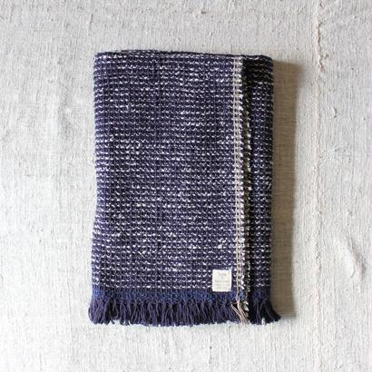 Gara-bou Blanket Stole 90×190cm (Indigo Pin Border)