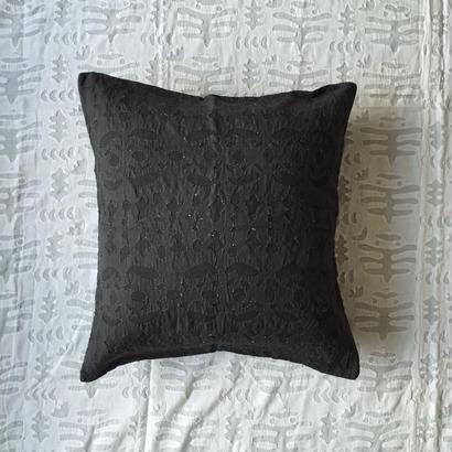 Khadi Cutwork Cushion Cover Alder Dye (Birds)