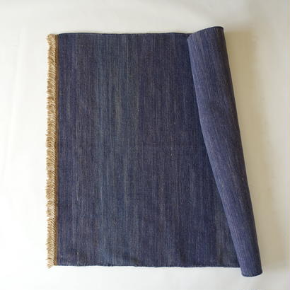 Dark Indigo Wool Rug 100x140