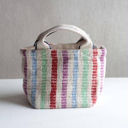 Gara-bou × Canvas Small Tote (Rainbow Stripe)