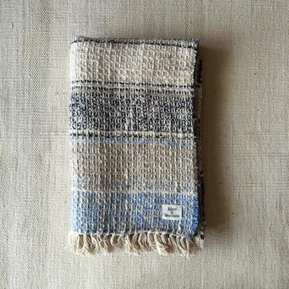 Gara-bou Medium Stole WS 50×190cm (Bolivian Blue)