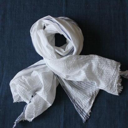 #200 Khadi White Stripe Stole