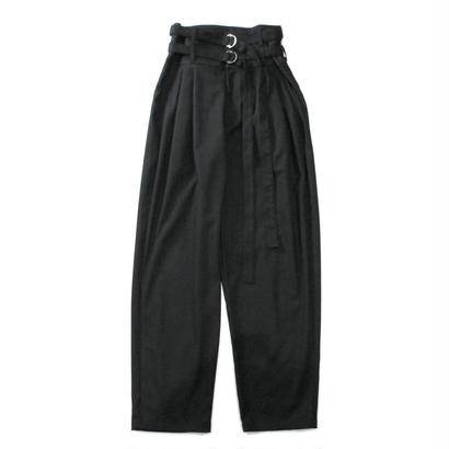 Double belted trouser - Solid