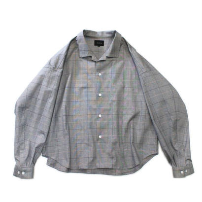 Big shirt jacket 改 - Glen check / Grey