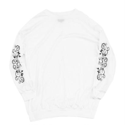Embroidery Long Sleeve Shirt Wht