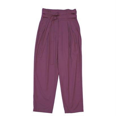 Double Belted Trouser - Gabardine / Purple
